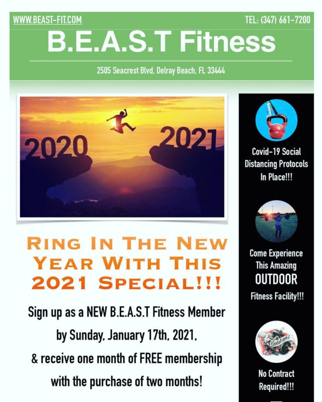 BEAST NATION,  It's time to Rise and Grind in this New Year! . This special is applicable for Brand New Memberships! .  Any current member that gets a family or friend to sign up under this special gets a free BEAST shirt!!! . Show Up! Shut Up! Put In Work! . Outdoor Fitness Evolution! BeastMode Activate! . . . #newyearpromo #buy2get1free #fitfam #letsgetit #wecandothistogether #itstartswithyou